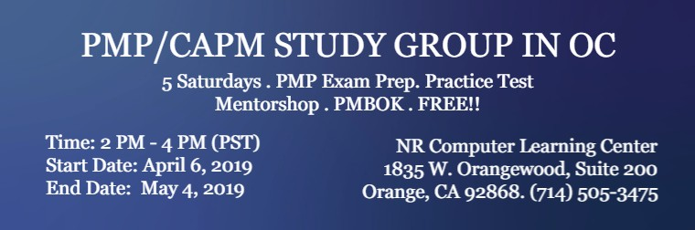 PMP Study Group OC Spring 2019 760x252